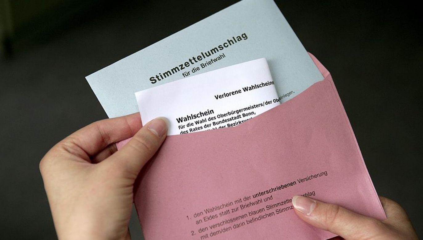 Głosowanie korespondencyjne od dziesięcioleci zyskiwało w Niemczech coraz większą popularność (zdjęcie ilustracyjne; fot. Ulrich Baumgarten via Getty Images)