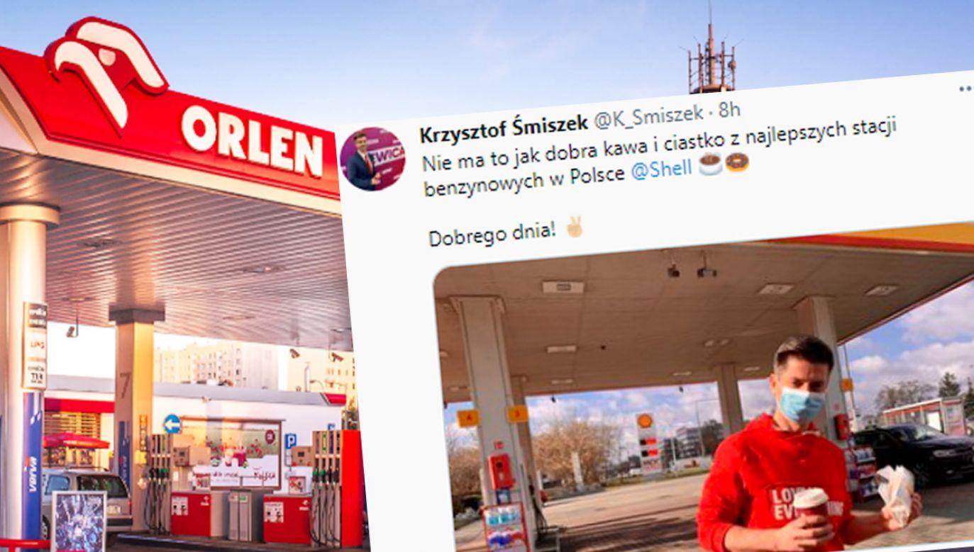 Polityk wpis zamieścił na Twiterze (fot. Orlen; TT/Krzysztof Śmiszek)
