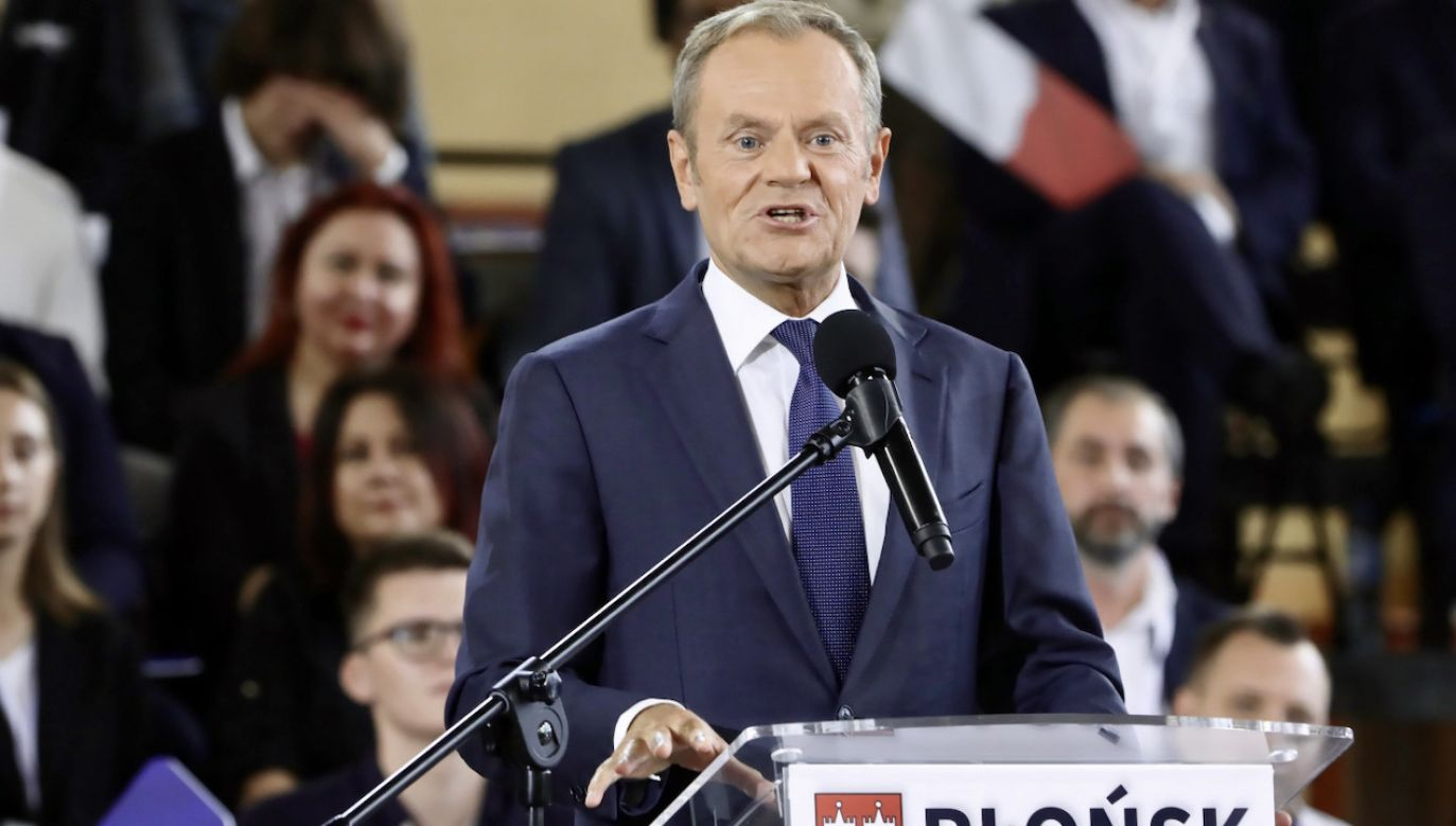 Konwencja PO w Płońsku (fot. PAP/Wojciech Olkuśnik)
