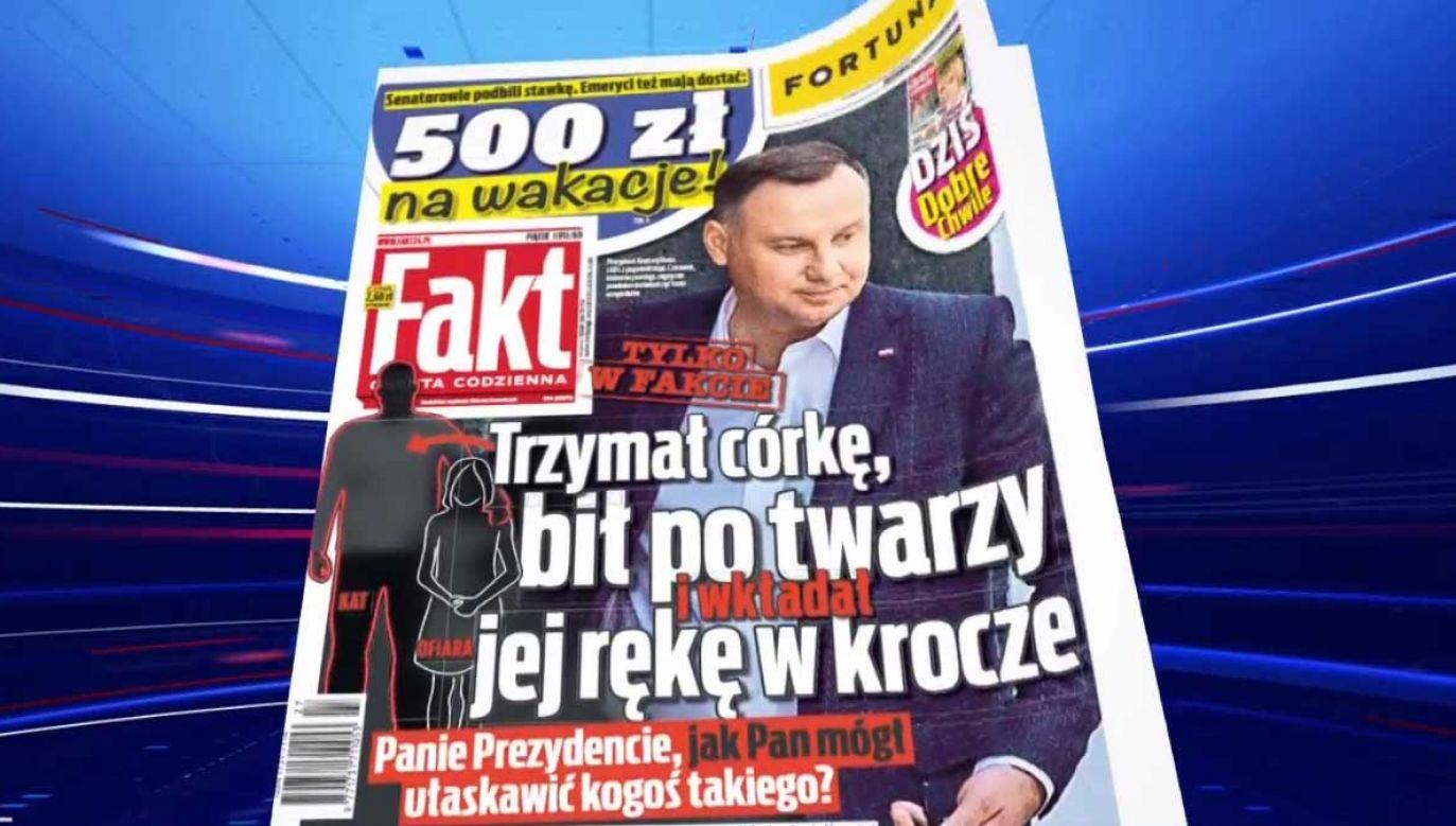 """""""Fakt"""" odniósł się do skandalicznej publikacji  (fot. TVP Info)"""