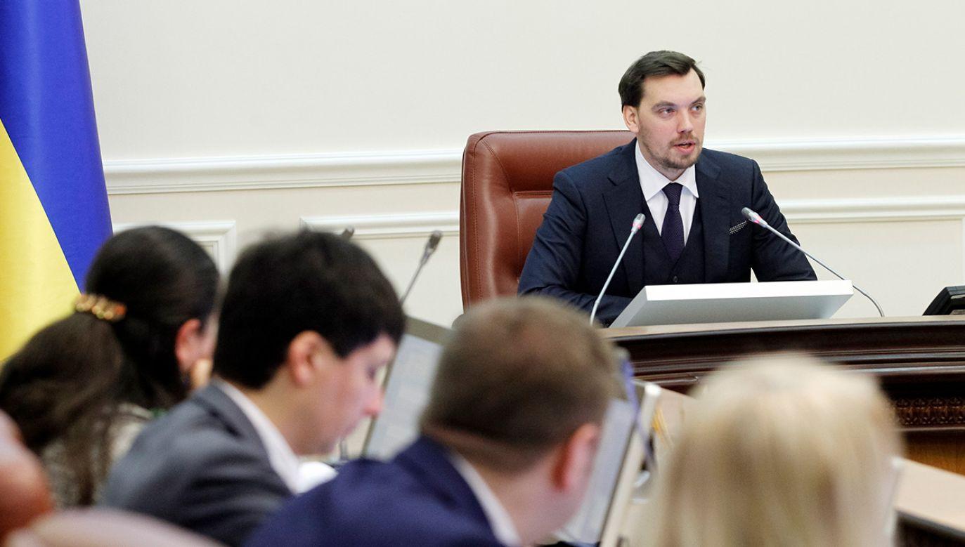 Podanie o dymisję złożył na ręce prezydenta Zełenskiego (fot. Pavlo Gonchar/SOPA Images/LightRocket via Getty Images)