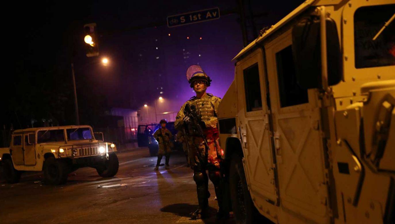 Gwardię Narodową zmobilizowano po raz pierwszy od II wojny światowej (fot. Reuters/Leah Millis)