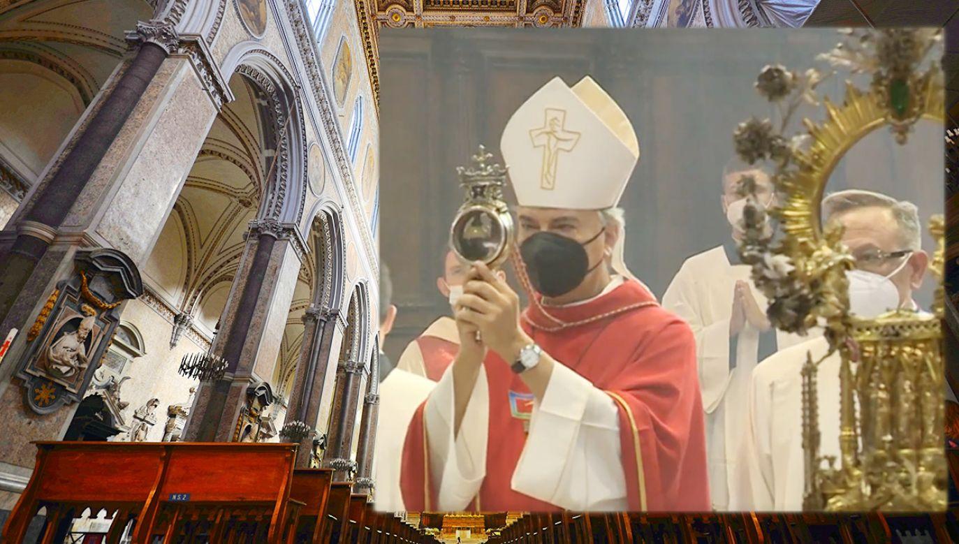 Relikwie św. Januarego w katedrze w Neapolu (fot. Shutterstock; EBU/RAI)
