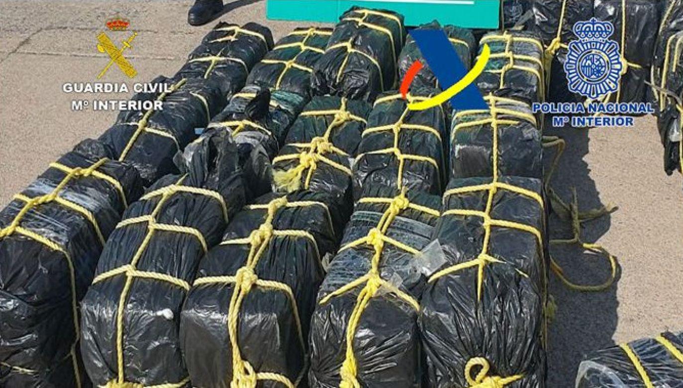 Kokaina jest drugim z najpopularniejszych narkotyków w Europie (fot. Policia Nacional)