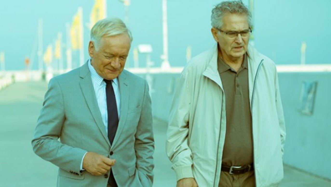 """Andrzej Seweryn i Olgierd Łukaszewicz; kadr z filmu """"Solid Gold"""" w reż. Jacka Bromskiego (fot. Materiały prasowe)"""