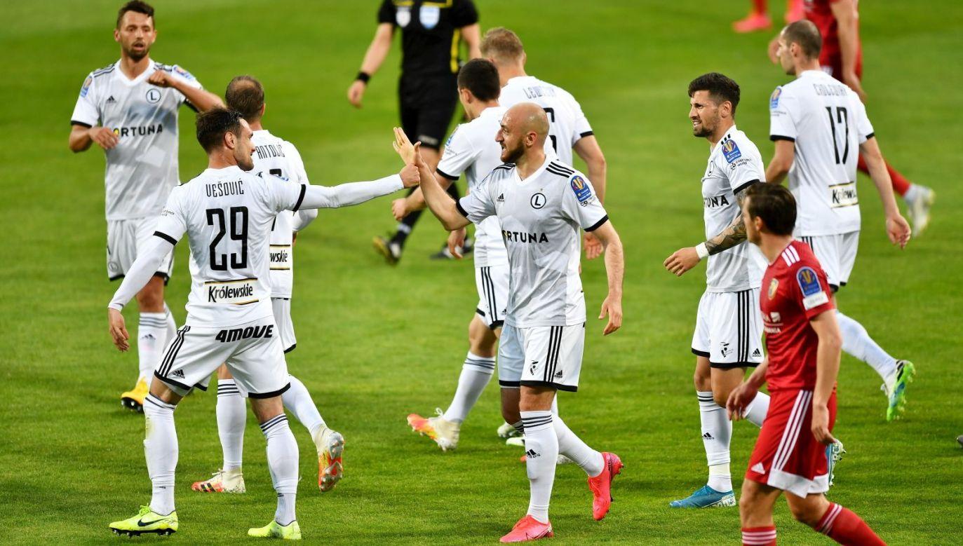 Legia awansowała do półfinału Pucharu Polski po nerwowej końcówce z Miedzią (Fot. PAP)