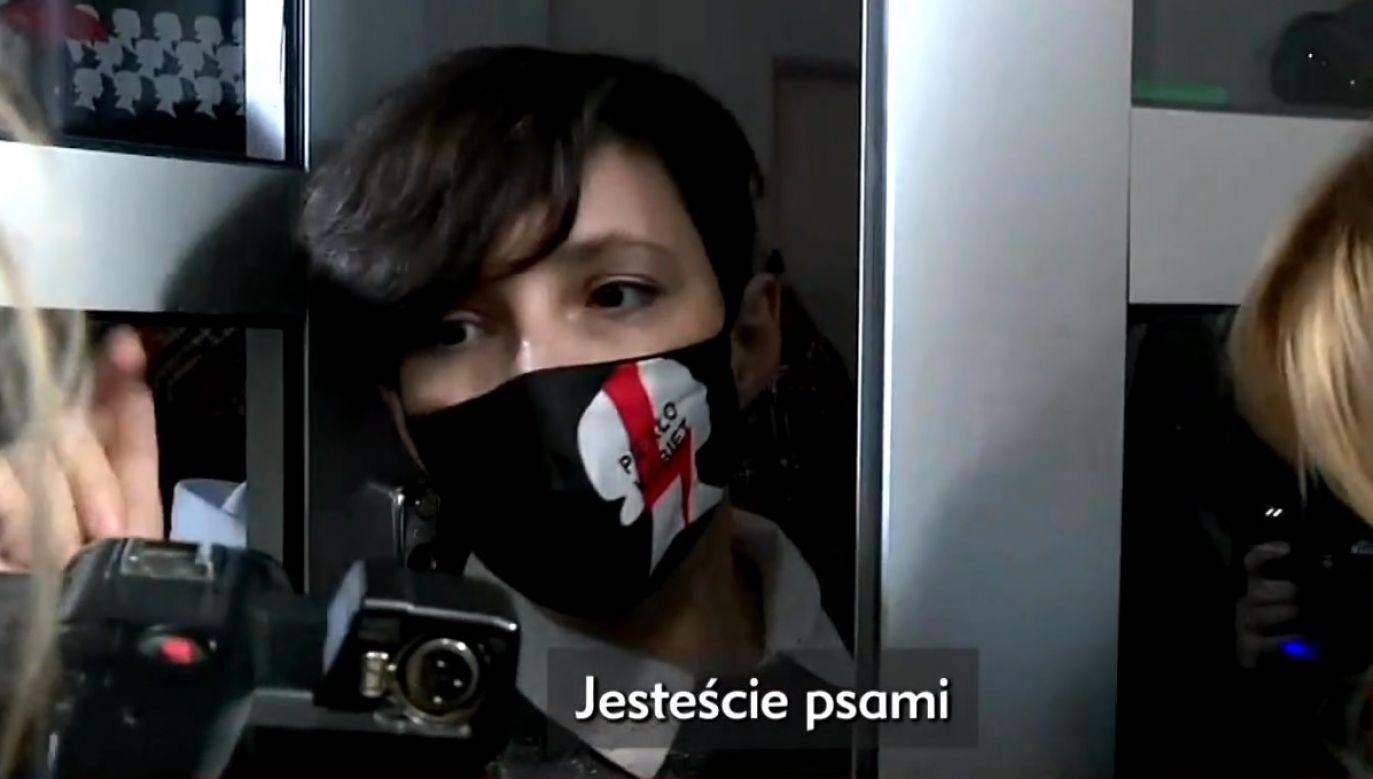 Liderki Ogólnopolskiego Strajku Kobiet wyrzuciły dziennikarzy z konferencji (fot. TVP Info)