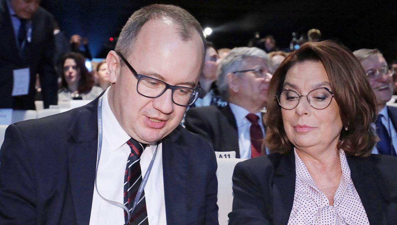 RPO Adam Bodnar i wicemarszałek Sejmu Małgorzata Kidawa-Błońska z PO (fot. PAP/Paweł Supernak)