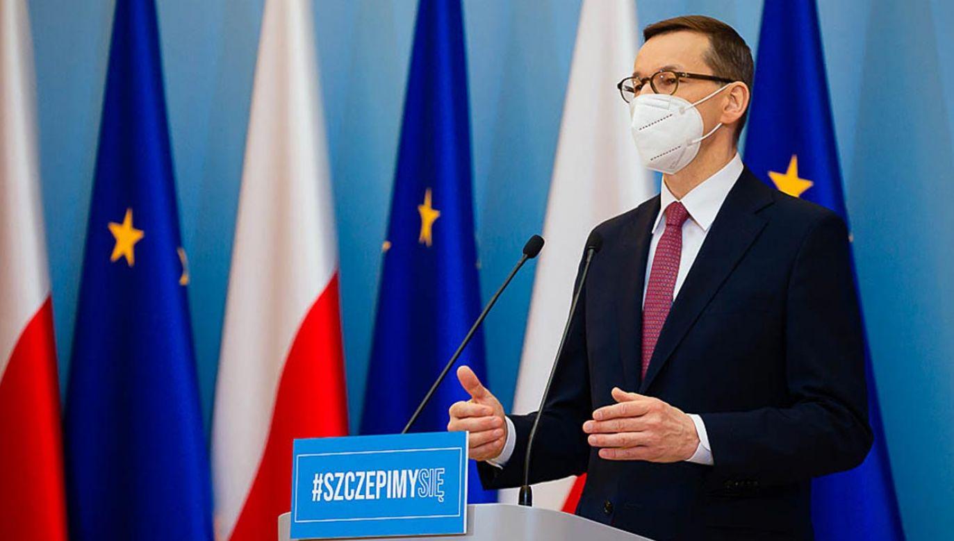 Konferencja premiera i ministra zdrowia (fot. Krystian Maj/KPRM)