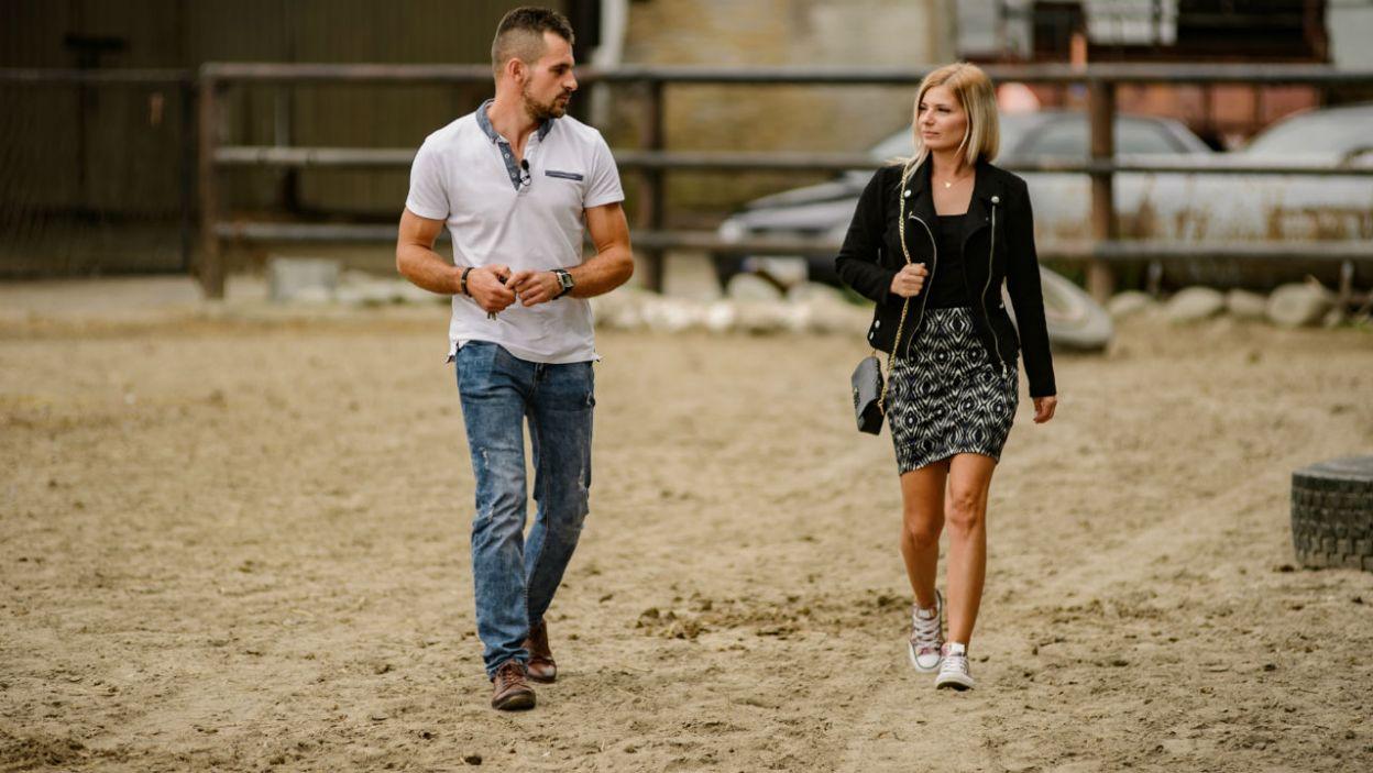 Adrian na randkę zaprosił jednak Ilonę (fot. P. Matey/TVP)