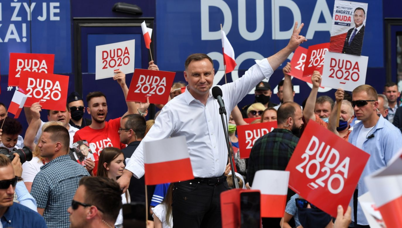 Wybory prezydenckie 2020. Prezydent RP Andrzej Duda (fot. PAP/Marcin Bielecki)