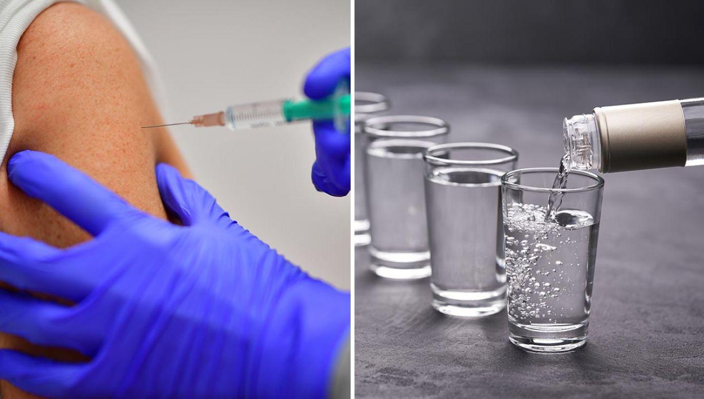 Alkohol po szczepieniu na COVID-19. Czy można go pić? (fot. Alexander Koerner/Getty Images; Shutterstock/itor)