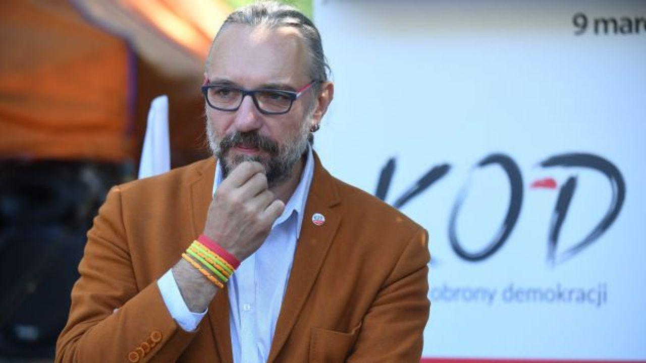 Szef KOD Mateusz Kijowski (fot. arch. PAP/Bartłomiej Zborowski)