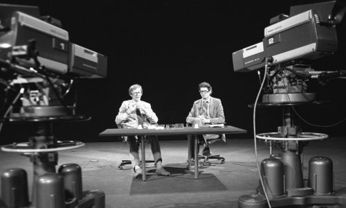 """""""Sonda"""", Andrzej Kurek i Zdzisław Kamiński. Fot. TVP/Zygmunt Januszewski"""