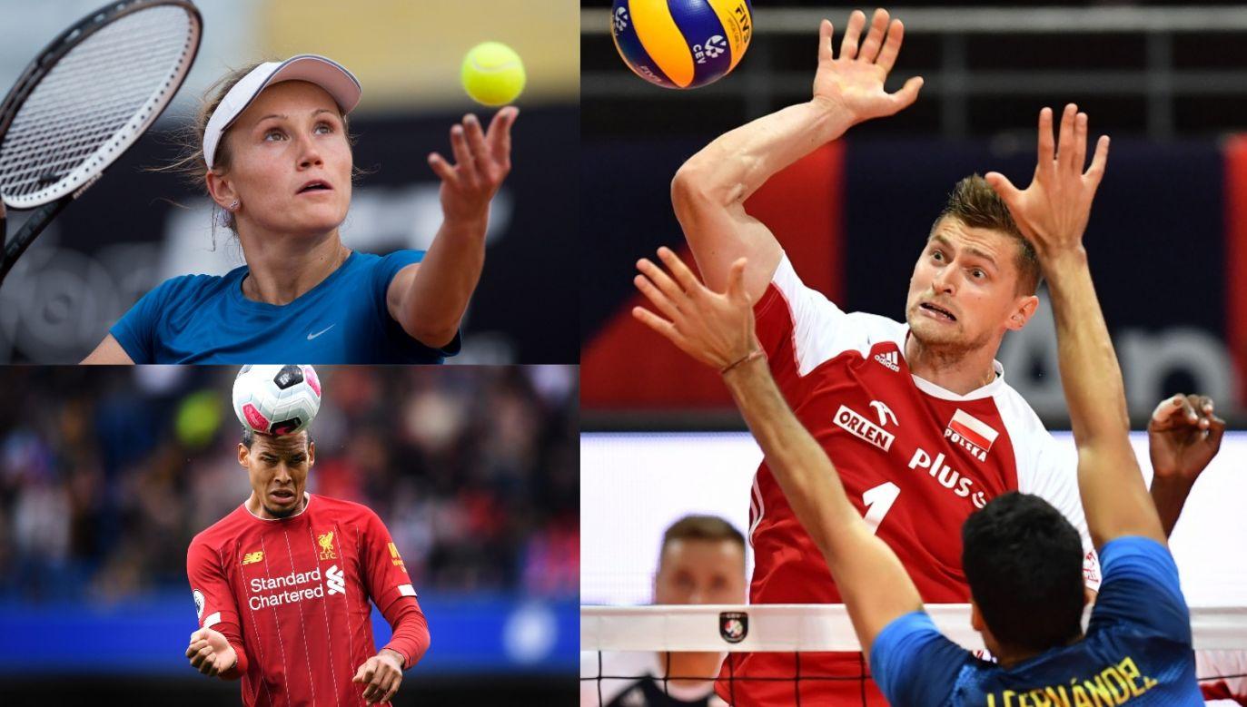 Piotr Nowakowski, Katarzyna Kawa, Virgil van Dijk (fot. PAP/Getty)