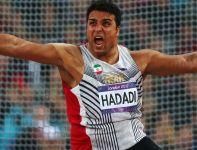 Irańczyk Ehsan Hadadi zdobył srebro w konkursie rzutu dyskiem (fot. Getty Images)