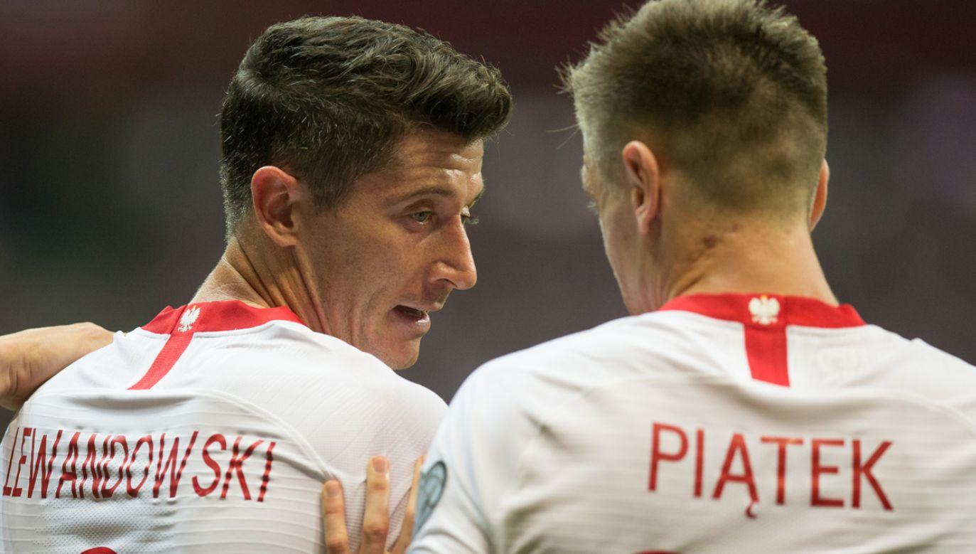 W wyjściowym składzie reprezentacji Polski Krzysztof Piątek zastąpi kapitana Roberta Lewandowskiego (fot. Foto Olimpik/NurPhoto via Getty Images)