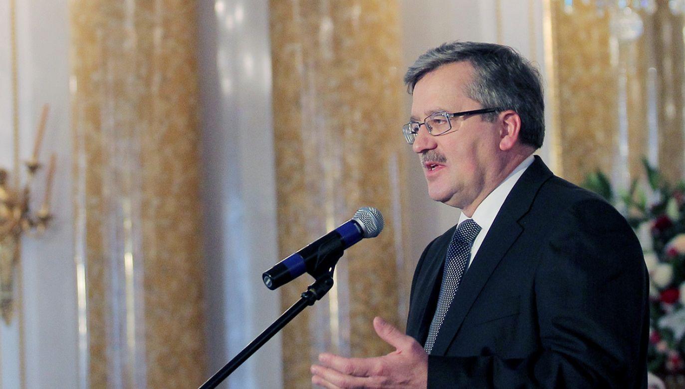 Bronisław Komorowski (fot. PAP/Radek Pietruszka)