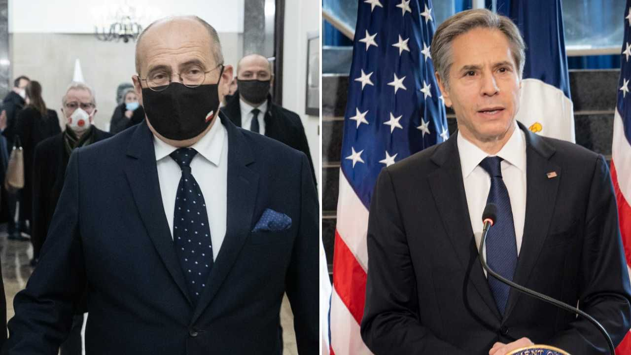 Zbigniew Rau i Antony Blinken rozmawiali telefonicznie (fot. MSZ/Tymon Markowski/Dept of State)