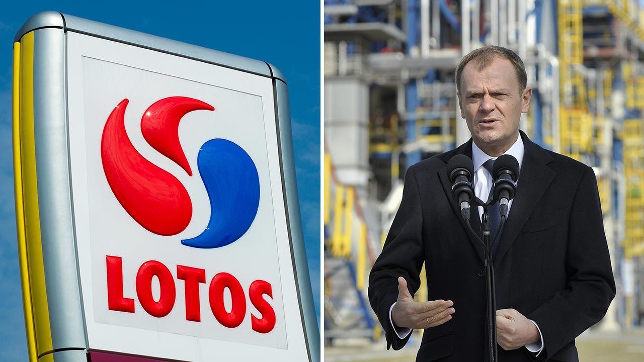 Lotos za rządów PO-PSL mógł trafić w rosyjskie ręce (fot. Shutterstock/Robson90; PAP/Adam Warżawa)