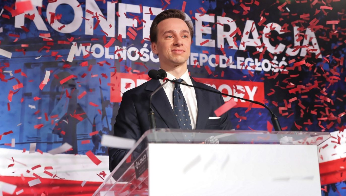 Kandydatem Konfederacji na prezydenta jest Krzysztof Bosak (fot. PAP/Tomasz Gzell)