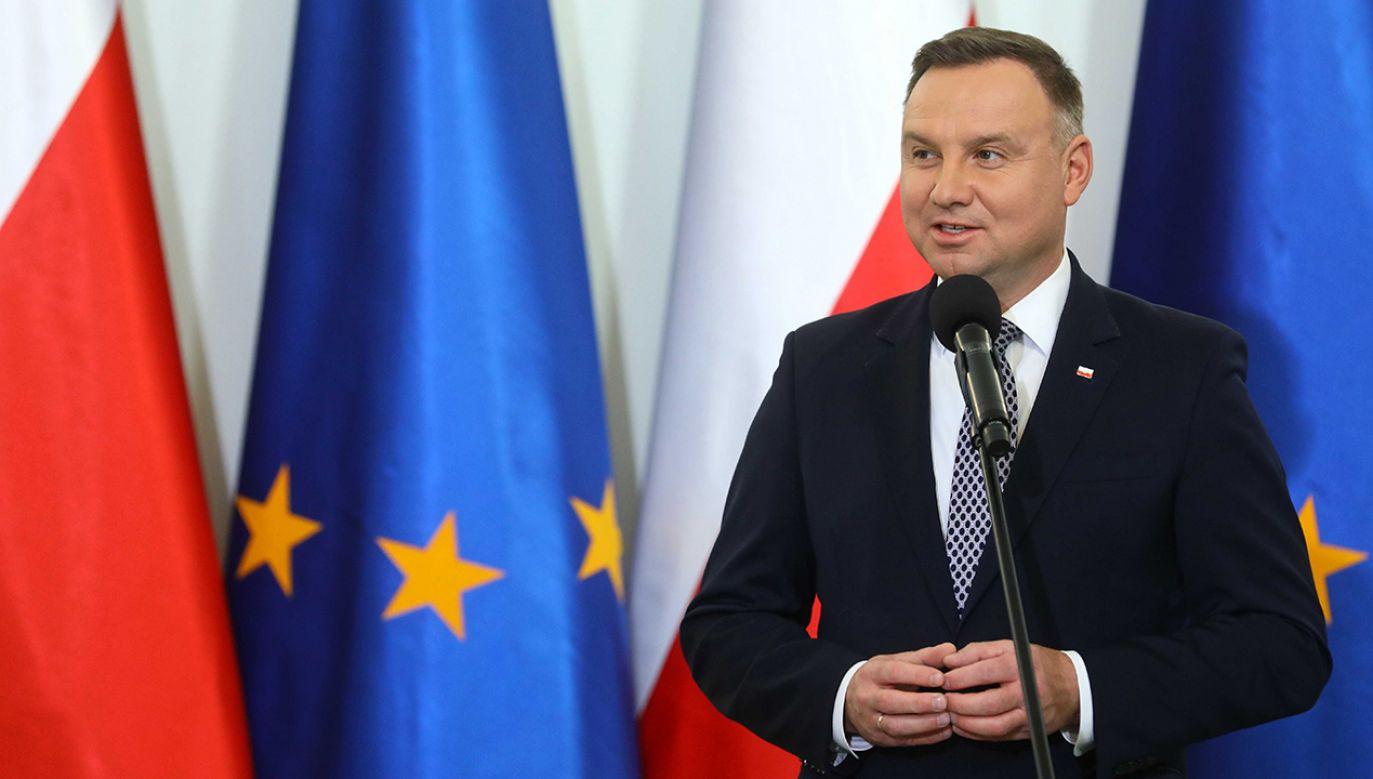 Andrzej Duda wygrałby ewentualną II turę wyborów prezydenckich z każdym kontrkandydatem – wynika z sondażu (fot.  PAP/Rafał Guz)
