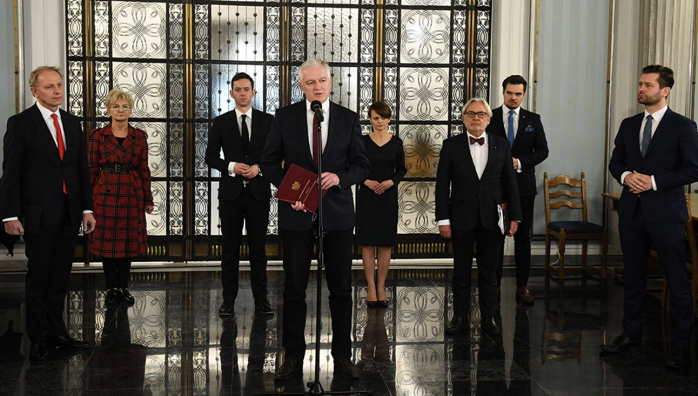 Jarosław Gowin jest przeciwny powszechnemu głosowaniu korespondencyjnemu (fot.  PAP/Radek Pietruszka)