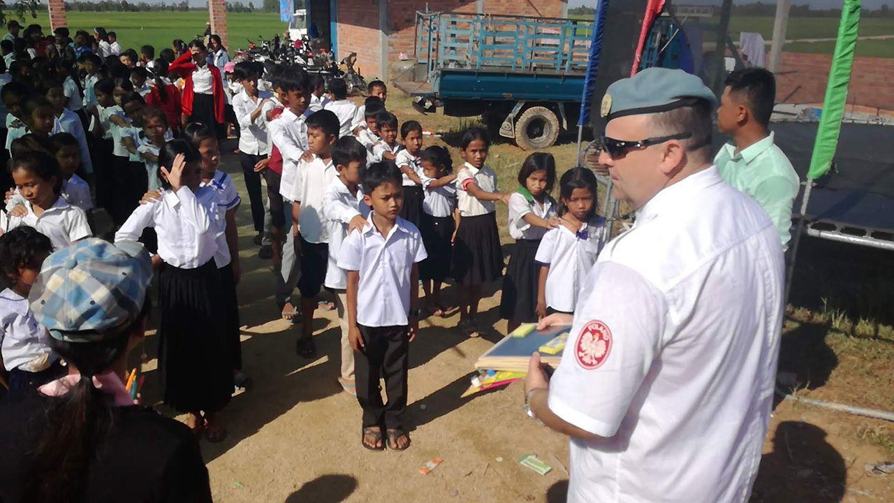 W Takeo, małej miejscowości na przedmieściach stolicy Phnom Penh, powstała szkoła ku czci polskich żołnierzy (fot. Cambodjana)