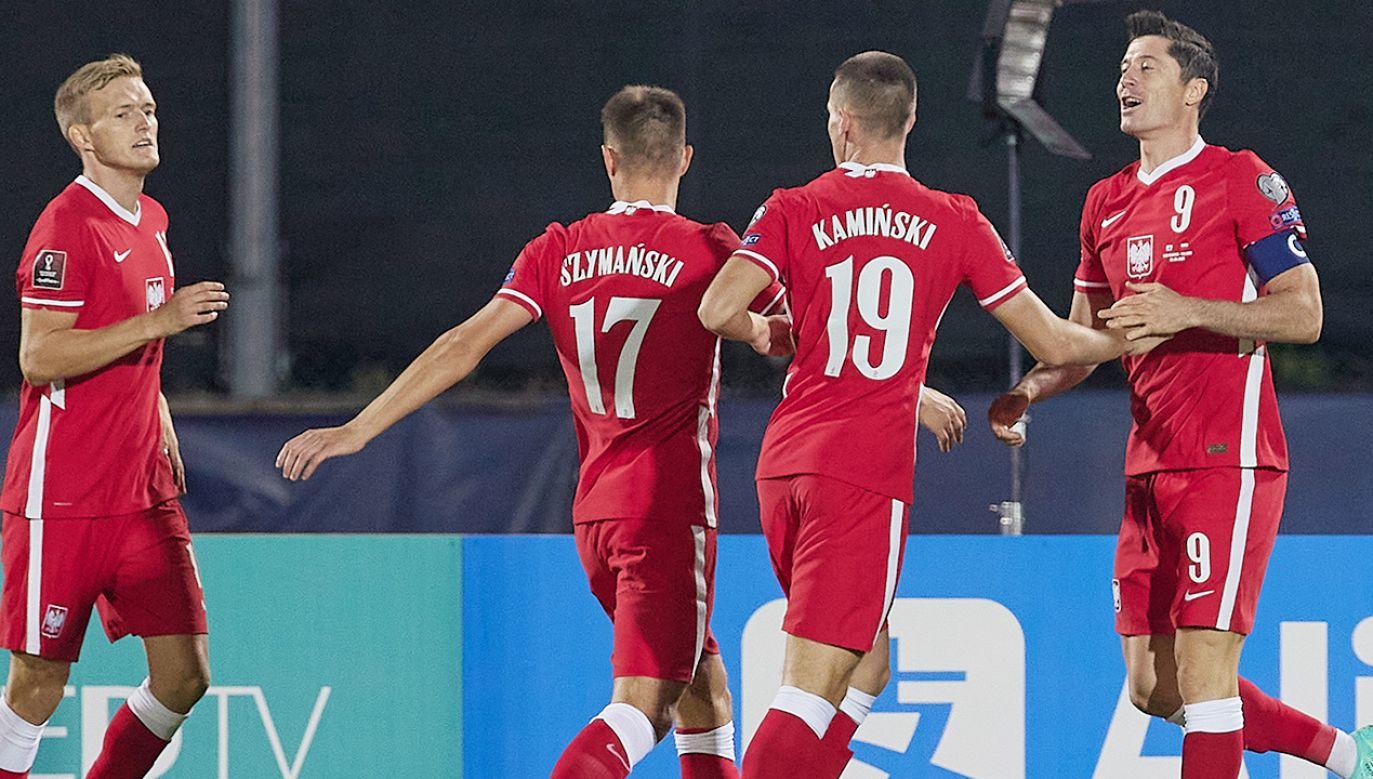 Tak Polacy cieszyli się z jednego ze strzelonych goli w meczu przeciwko San Marino (fot. Emmanuele Ciancaglini/Getty Images)