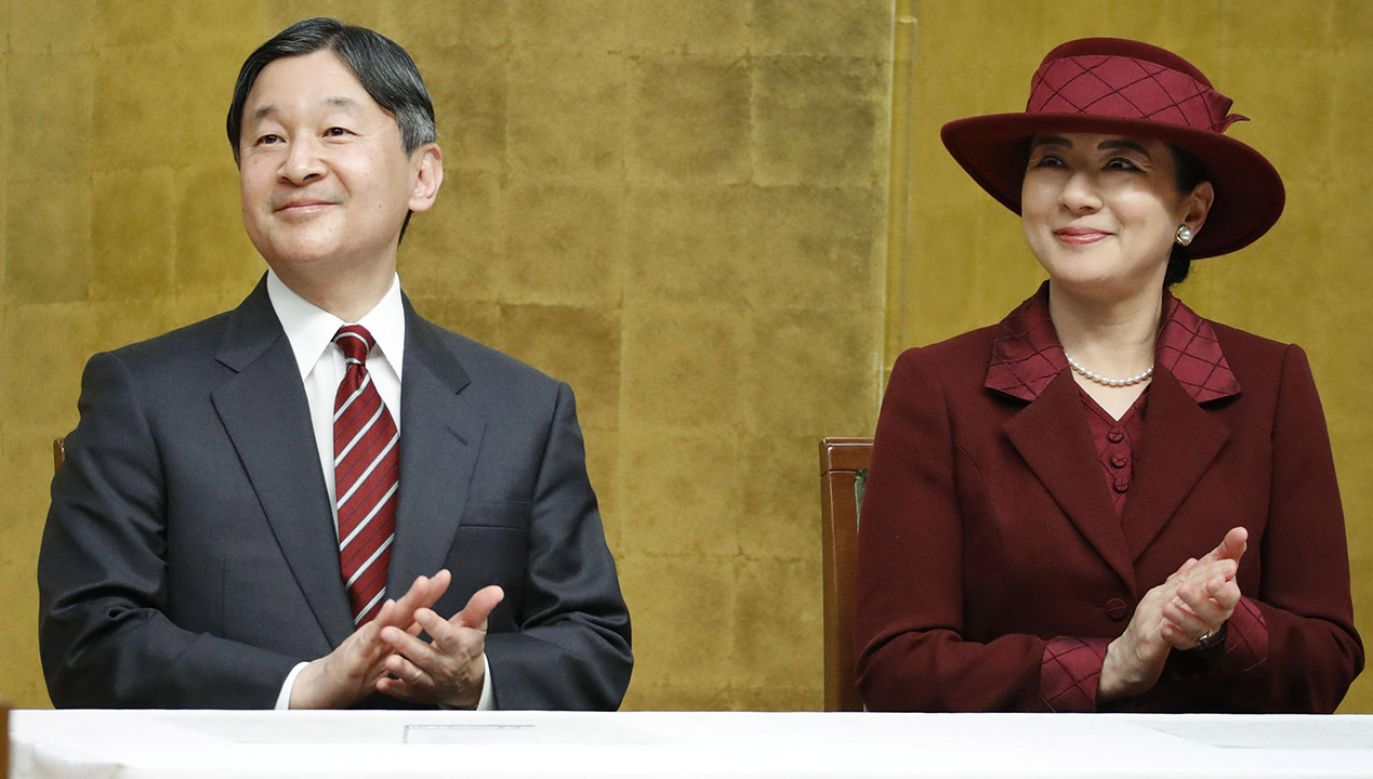 Cesarz Naruhito z żoną Masako (fot. Kyodo News via Getty Images)
