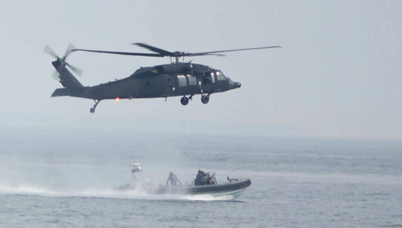 Desant komandosów GROM na Bałtyku (fot. YouTube/ 24plreporter)