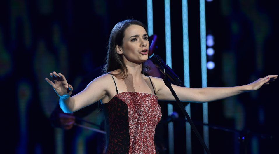 Karolina Skrzyńska w Opolu zadebiutowała w 2007 roku. Teraz wystąpiła z własnym materiałem (fot. I. Sobieszczuk/TVP)