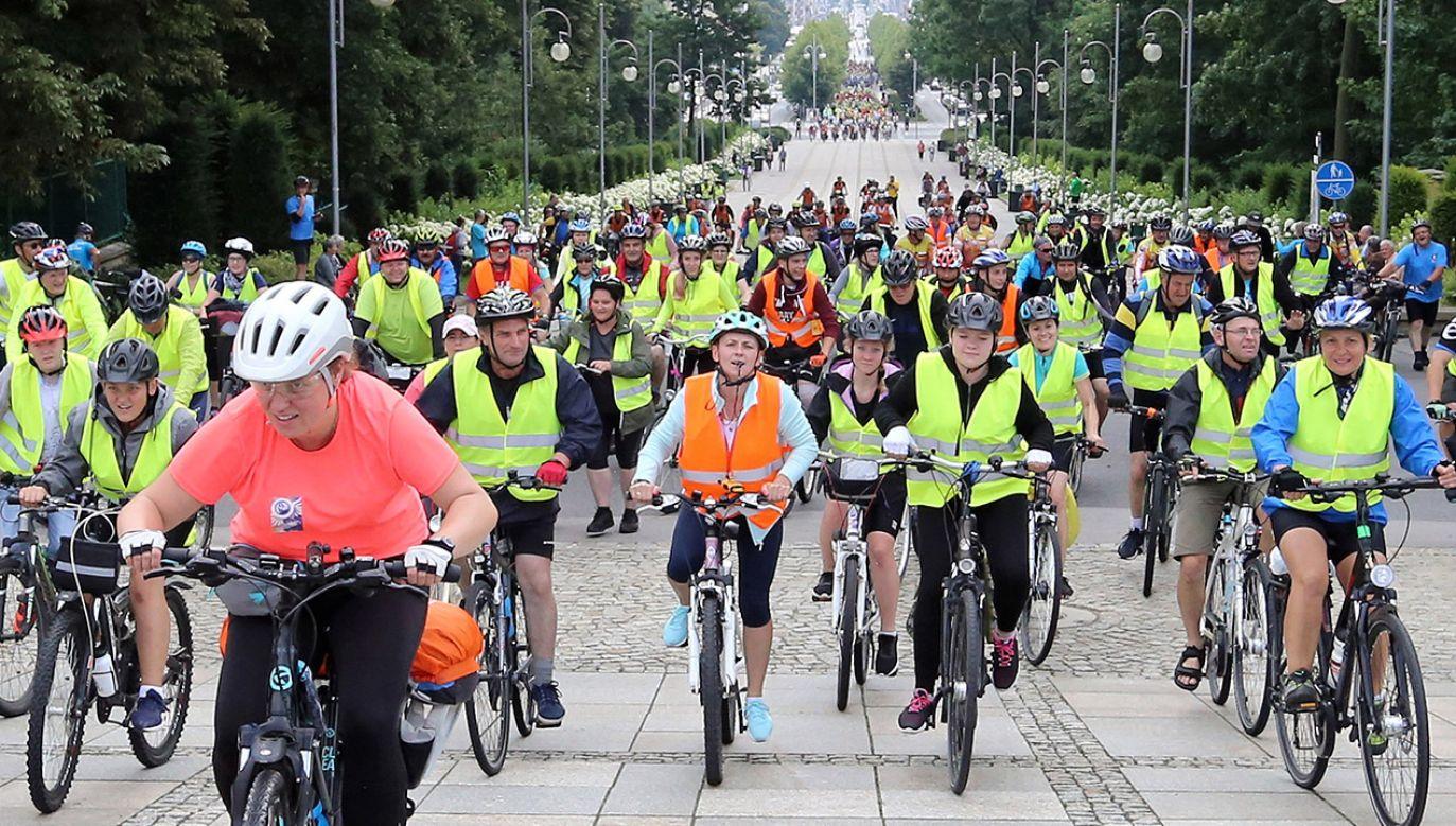 Jest to prawdopodobnie największa pielgrzymka rowerowa w Polsce (fot. arch.PAP/Waldemar Deska)