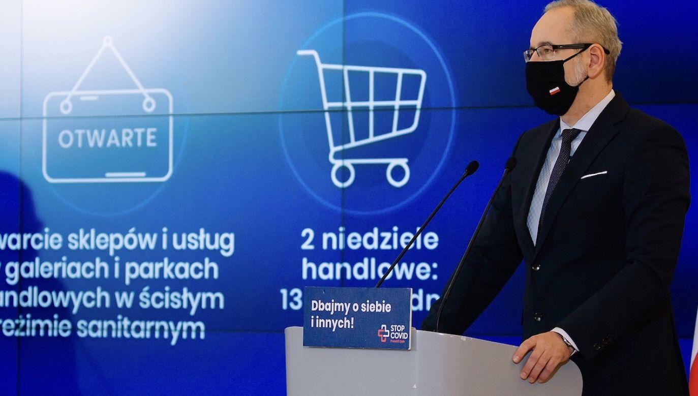 Konferencja ministra zdrowia (fot. Krystian Maj/KPRM)