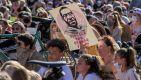 Śmierć George'a Floyda wywołała falę protestów w USA (fot. PAP/EPA/TANNEN MAURY)