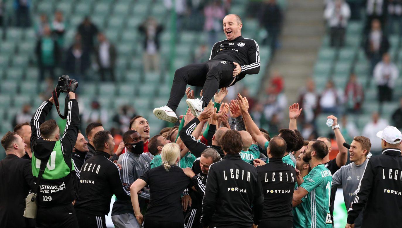 Aleksandar Vuković po zdobyciu mistrzostwa Polski z Legią (fot: Piotr Kucza/400mm.pl)
