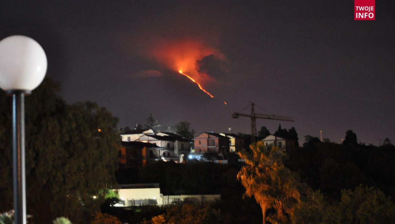 Erupcja Etny (fot. Twoje Info)