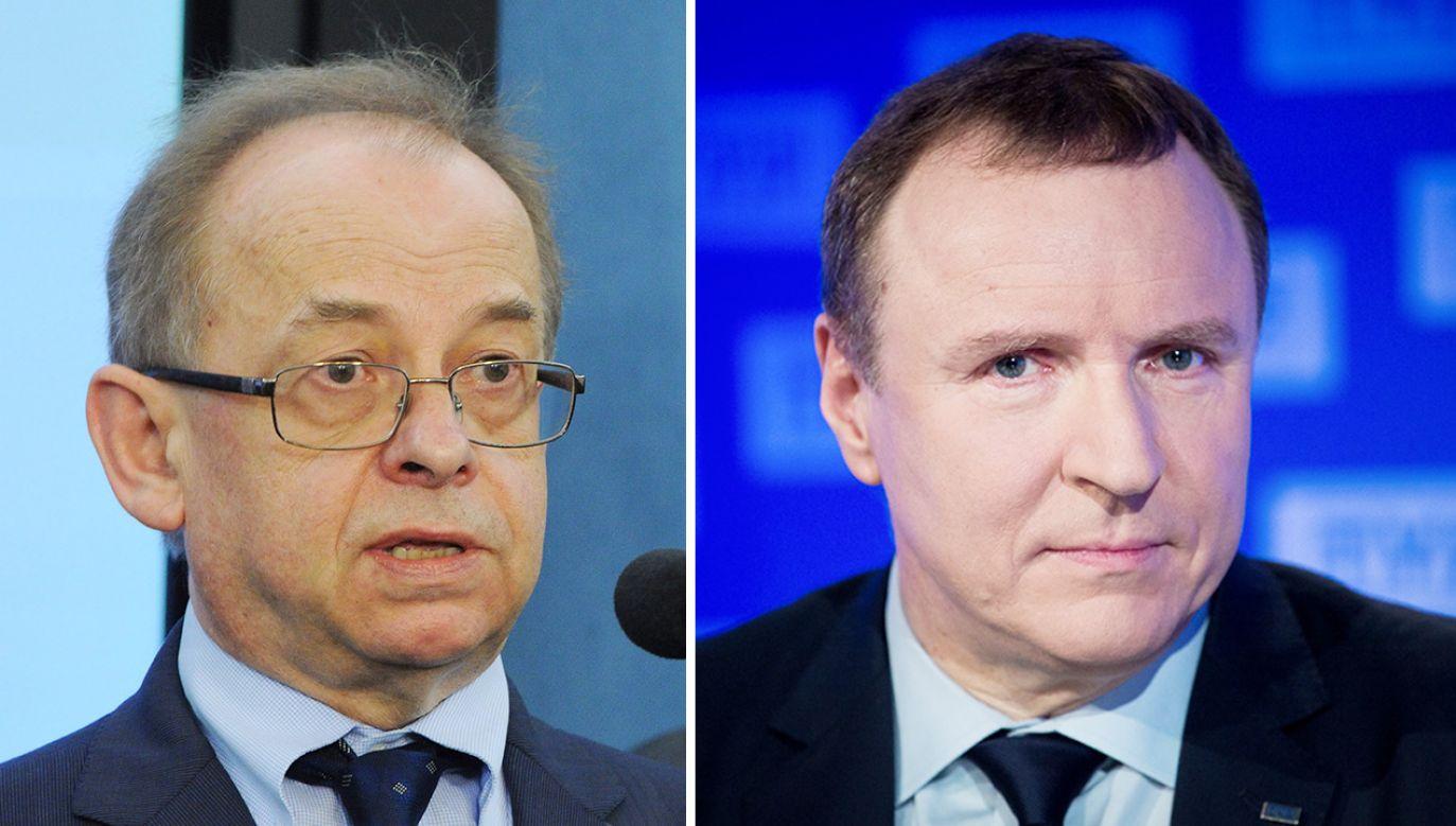 Wojciech Sadurski i Jacek Kurski (fot. PAP/Grzegorz Jakubowski; Mateusz Wlodarczyk/NurPhoto via Getty Images)