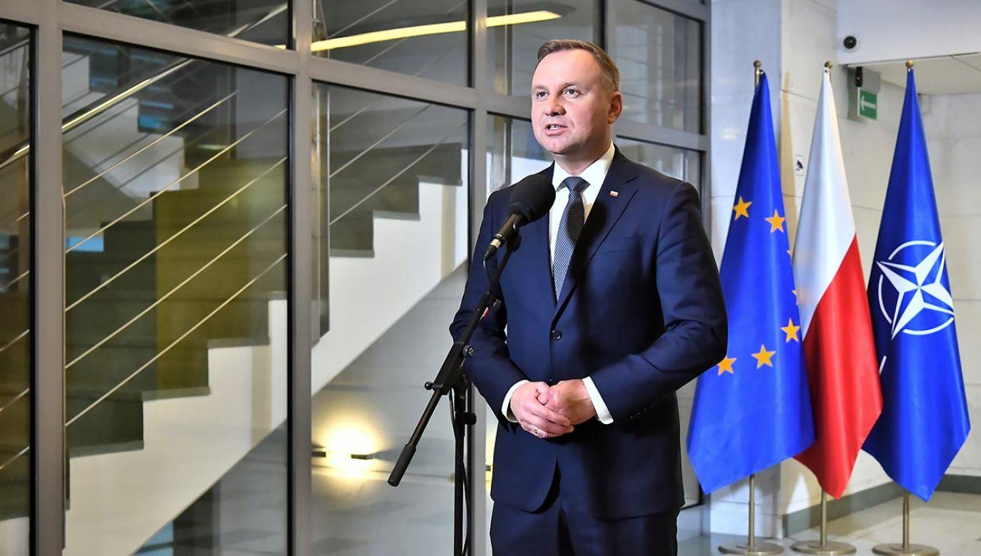Andrzej Duda zapowiedział przedłużenie stanu wyjątkowego (fot. PAP/Andrzej Lange)