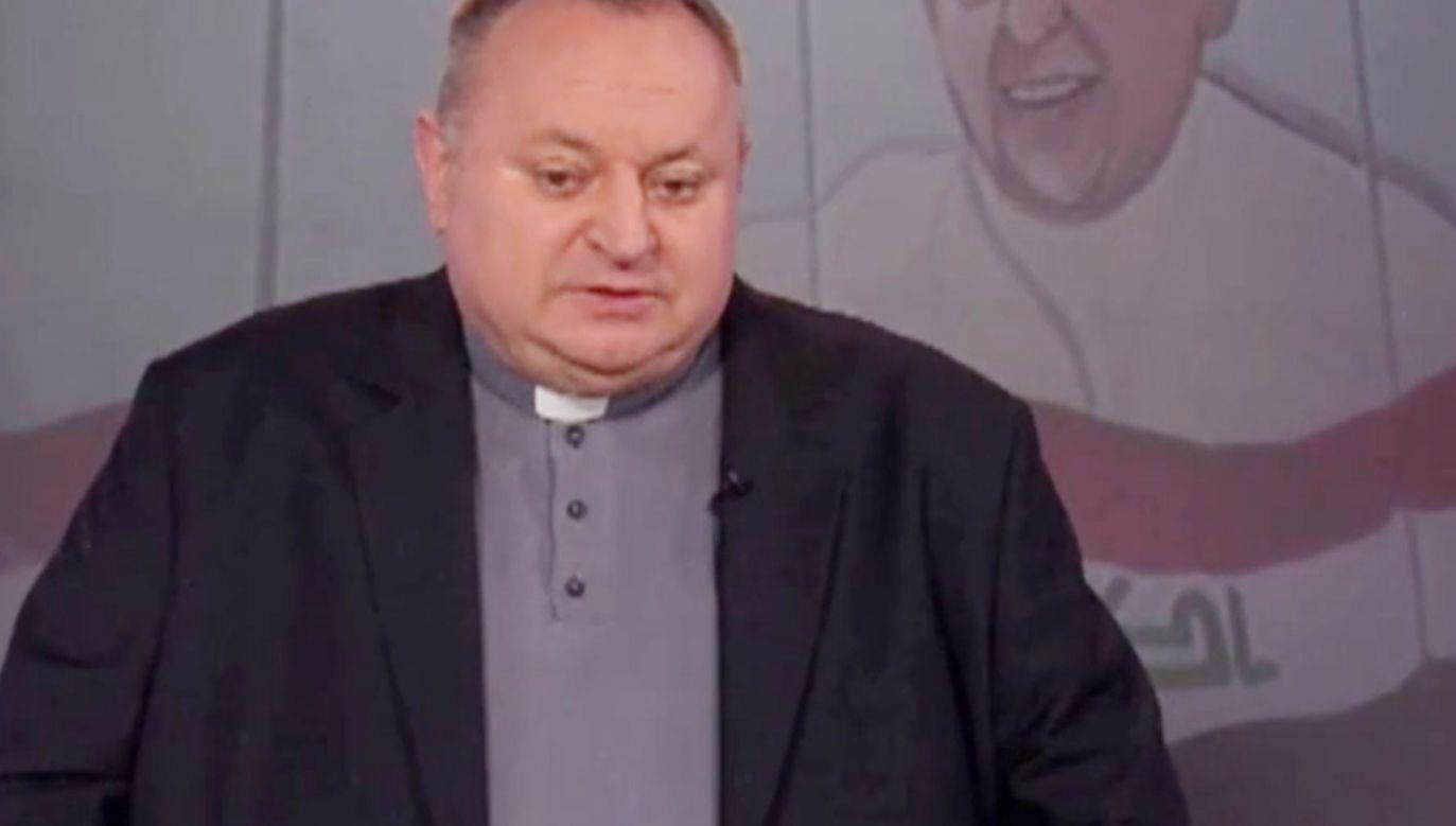 Ks. prof. Cisło o sytuacji chrześcijan w Iraku (fot.TVP Info)