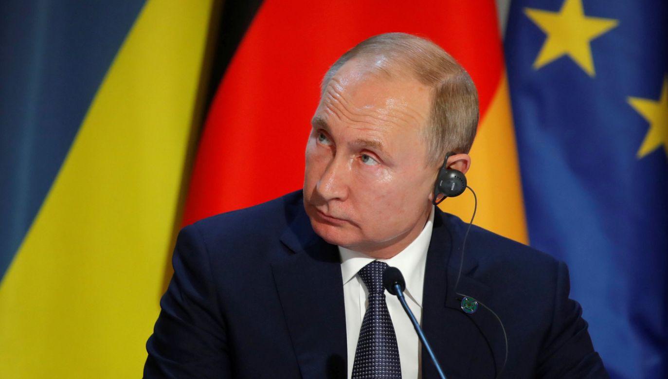 Władimir Putin w Paryżu na rozmowach w formacie normandzkim (fot. PAP/EPA/CHARLES PLATIAU / POOL)