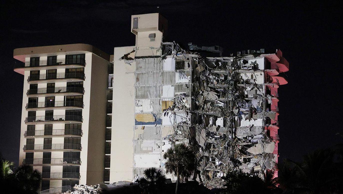 Katastrofa budowlana w Miami (fot. Joe Raedle/Getty Images)
