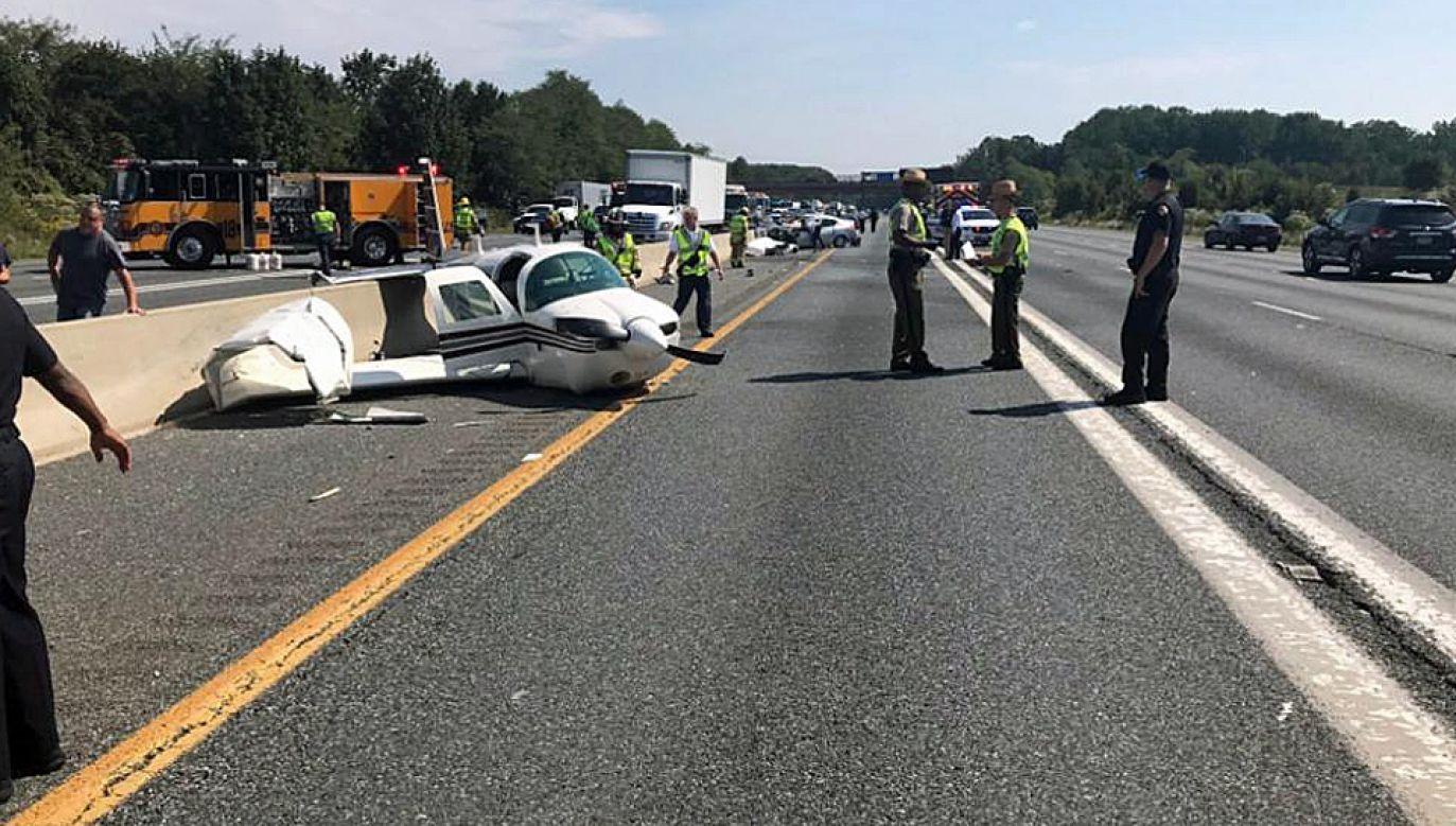 W wypadku ranne zostały cztery osoby (fot. TT/CBS 13 News)