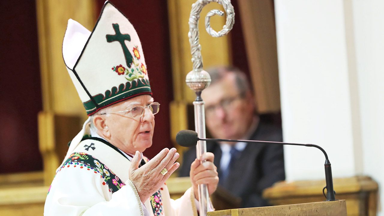 Przewodniczący Konferencji Episkopatu Węgier, bp András Veres wyraził solidarność z abp. Markiem Jędraszewskim (fot. PAP/Grzegorz Momot)