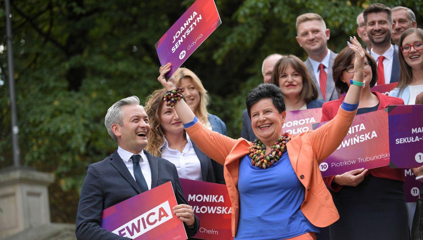 Joanna Senyszyn jest liderką listy KW SLD do Sejmu w okręgu gdyńsko-słupskim (fot. arch.PAP/PAP/Marcin Obara)
