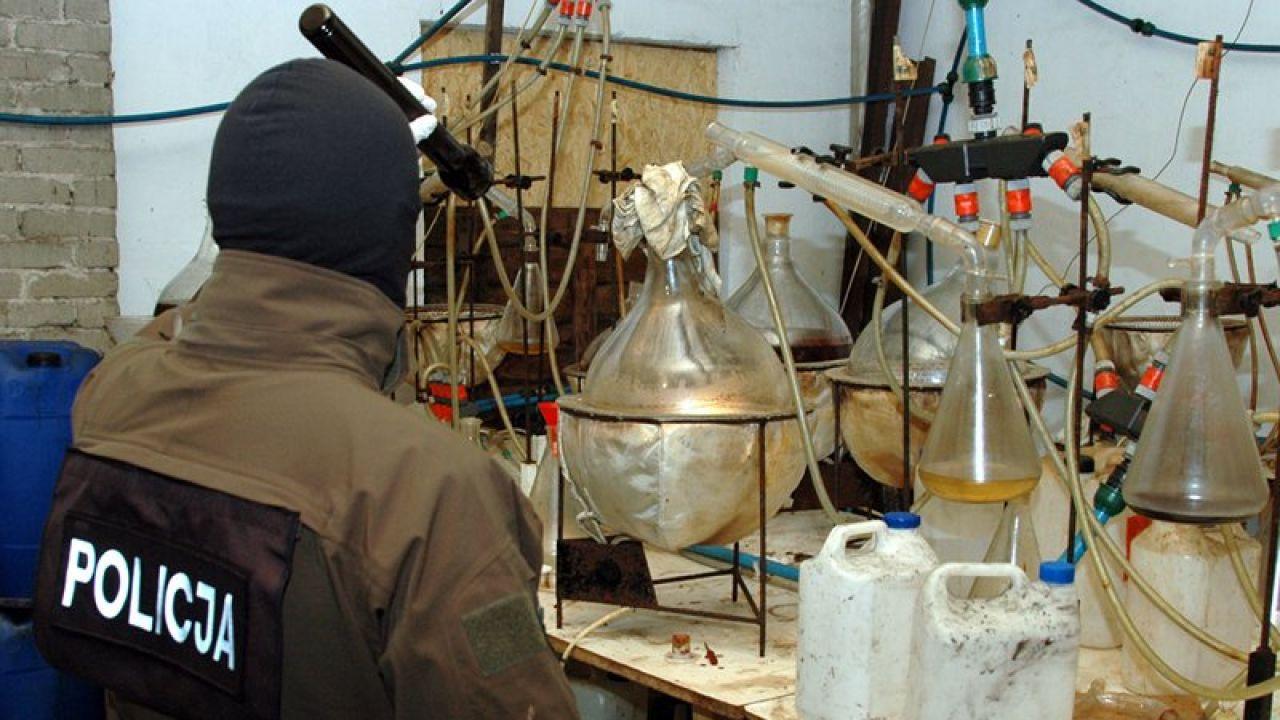 Uderzenie policji w producentów amfetaminy (fot. CBŚP)