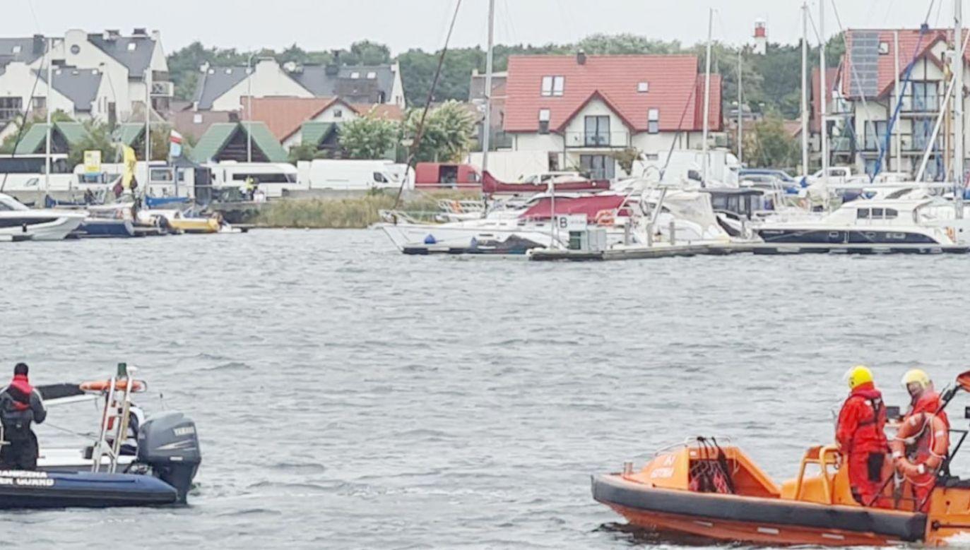 Niedaleko Jastarni przewrócił się jacht (fot. Straż Graniczna)