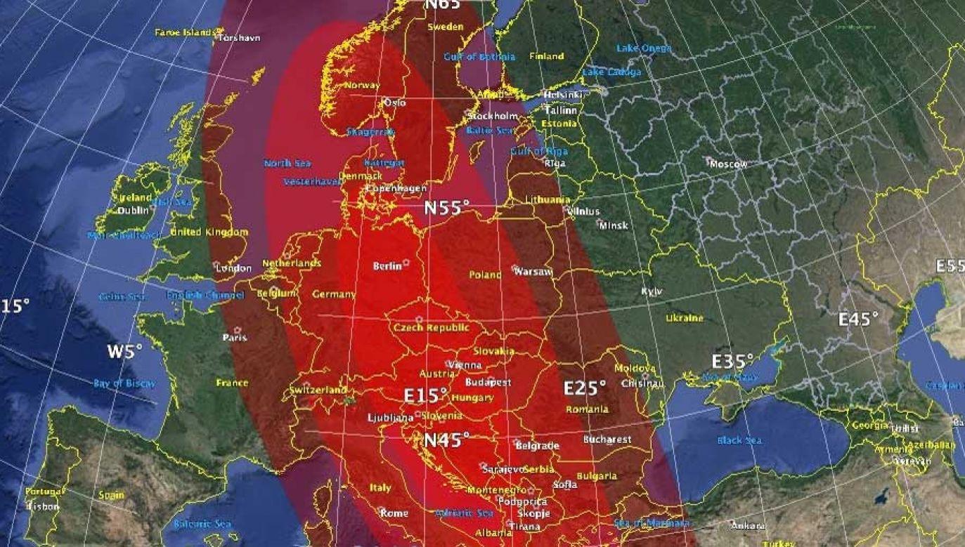 Symulacja NASA pokazuje ogromne zniszczenia po uderzeniu asteroidy także w Polsce (fot. jpl.nasa.gov)