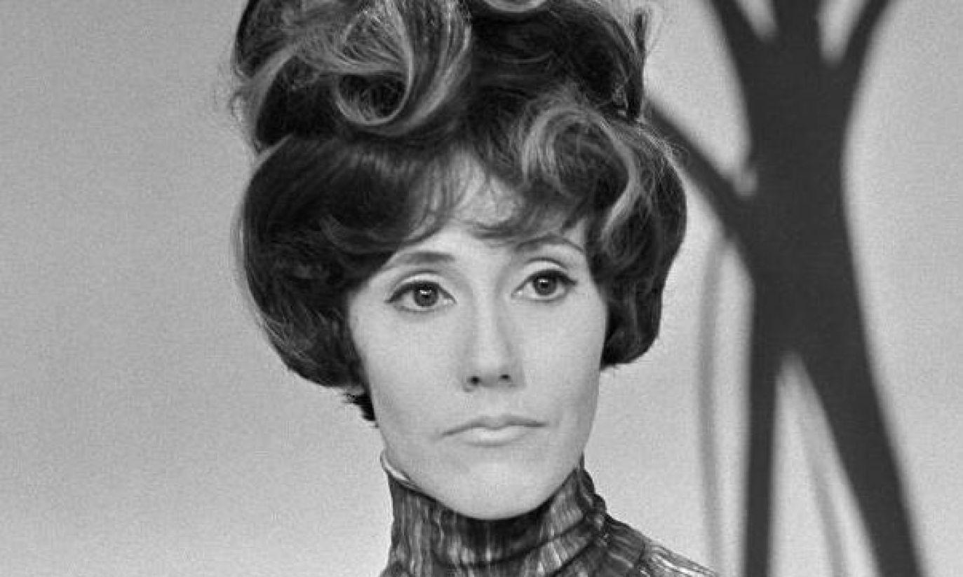 1967: nawet w wymyślnej charakteryzacji aktorka wyglada posągowo (fot. TVP)