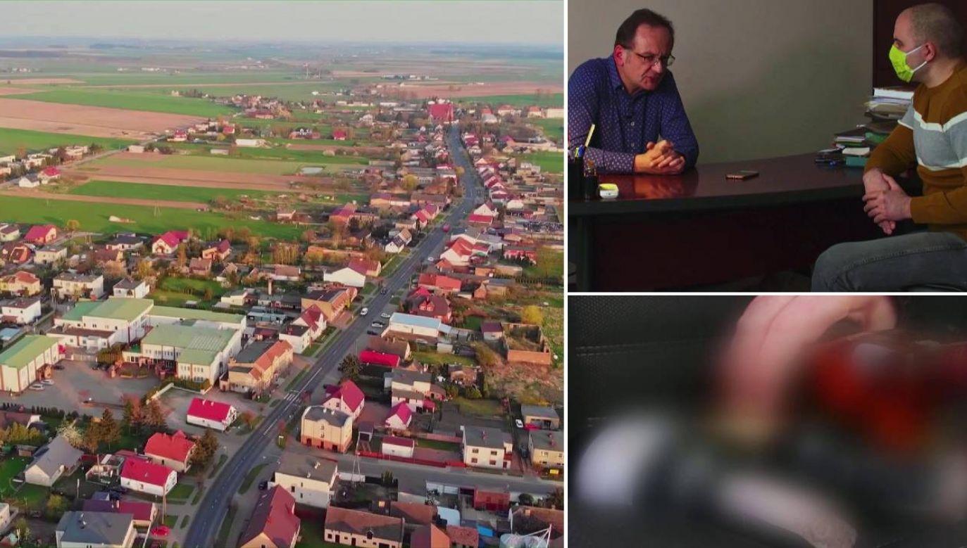 Wójt Roman Boguś zaprzeczył, jakoby miał kupować głosy (fot. TVP1)